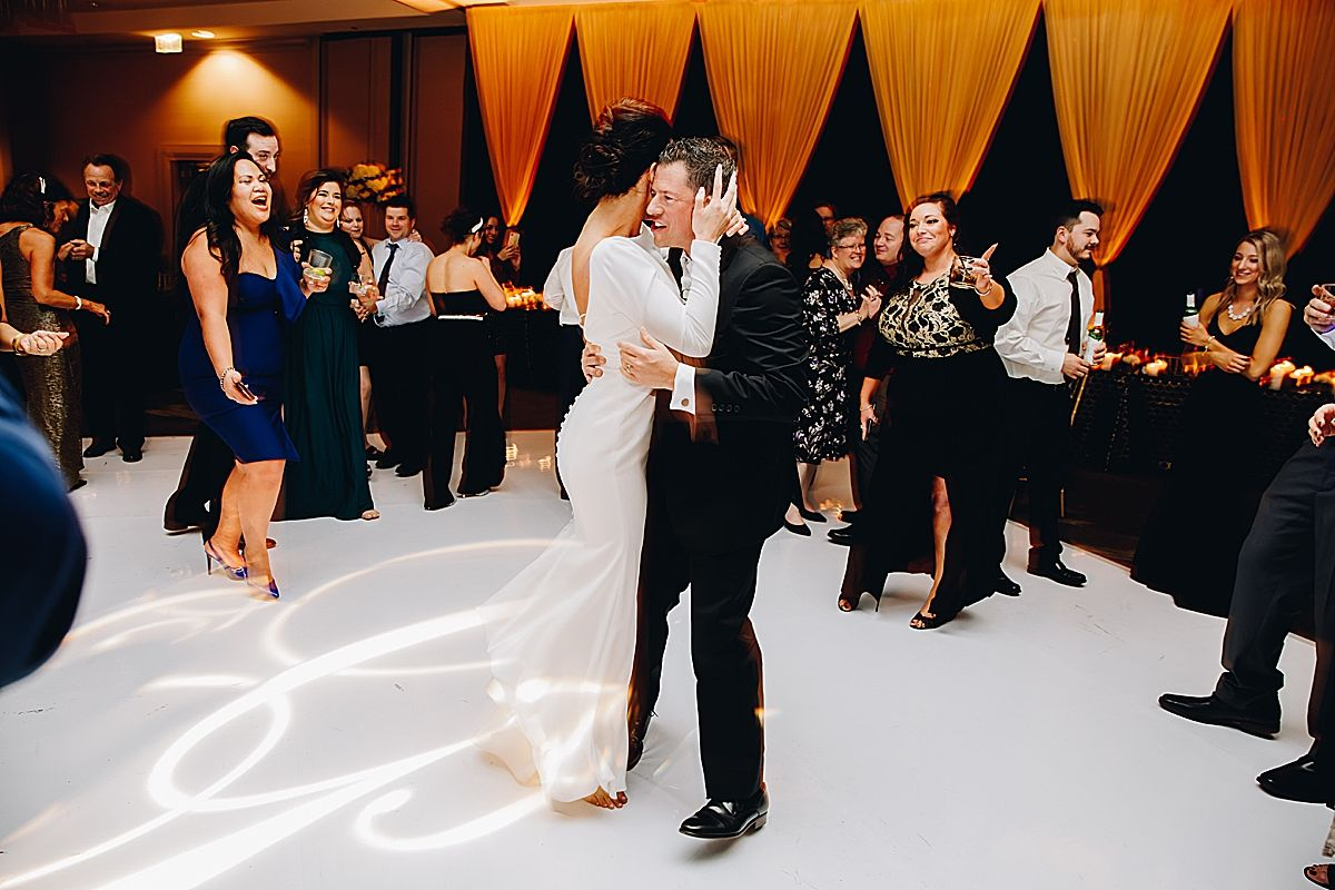Chicago photographer melissa marie photography New Years eve wedding Renaissance Chicago Ohare