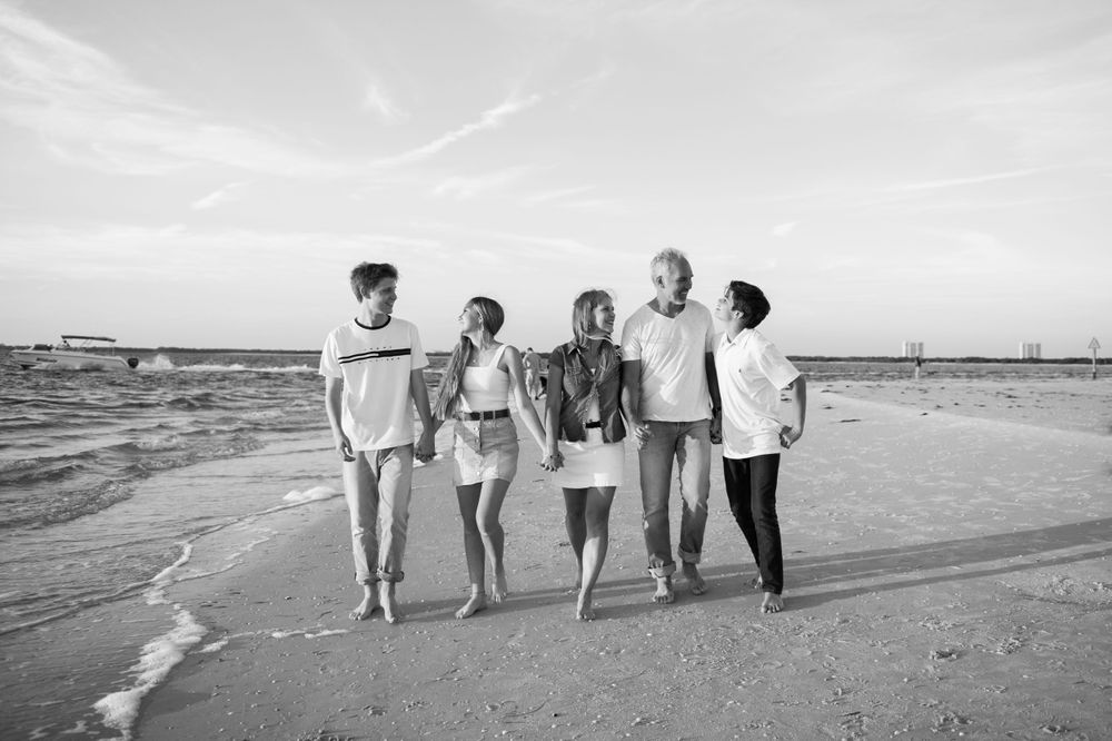 family photo session on fort myers beach