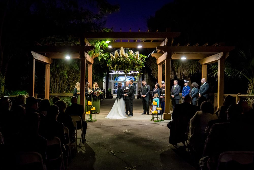 Wedding ceremony at at Riverbanks Zoo in Columbia, SC