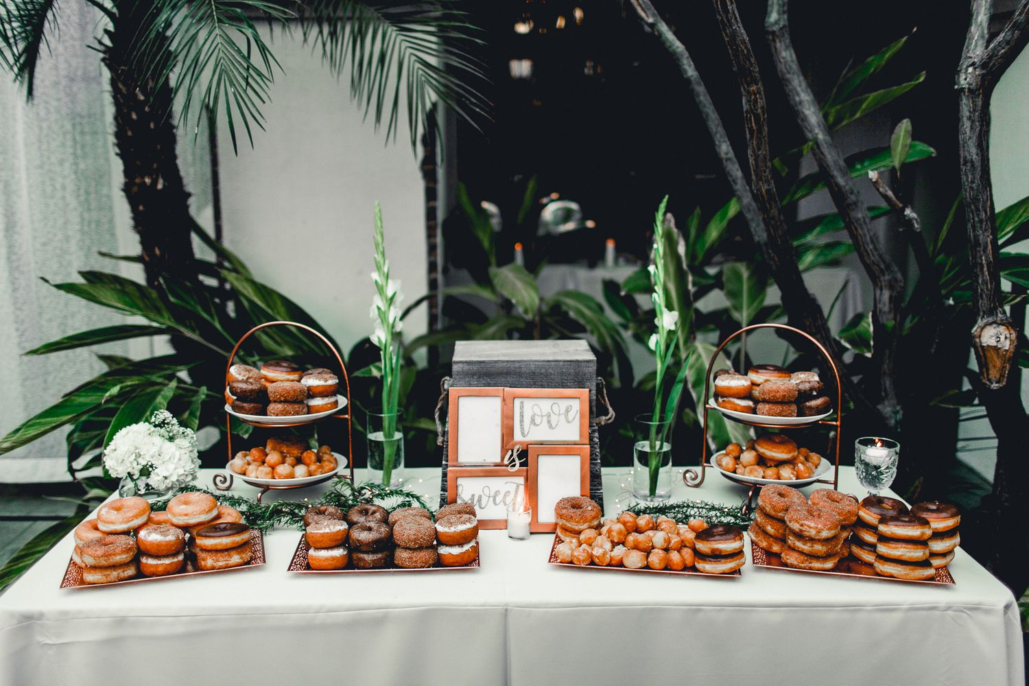 dessert table design with donuts