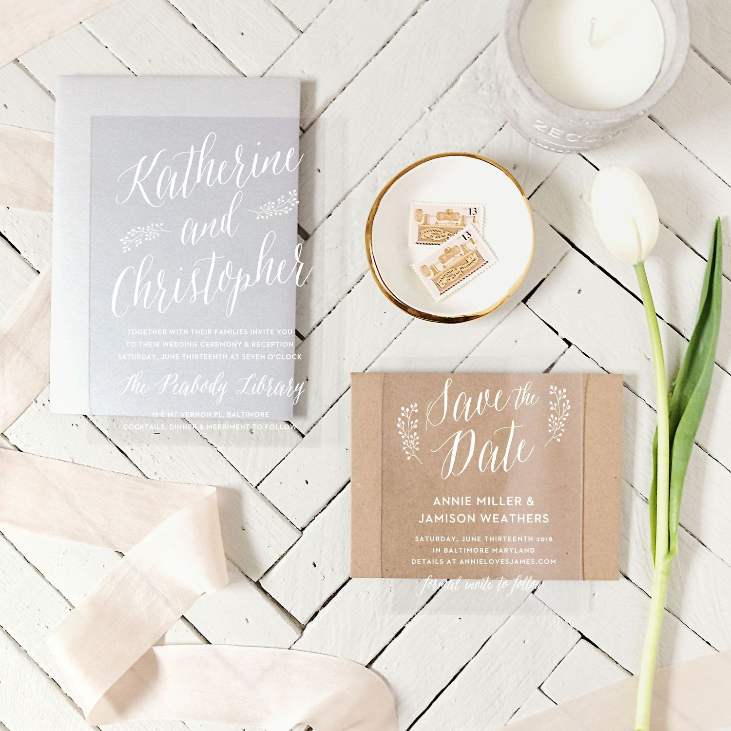 Wedding Invitation Stationary Set from Basic Invite