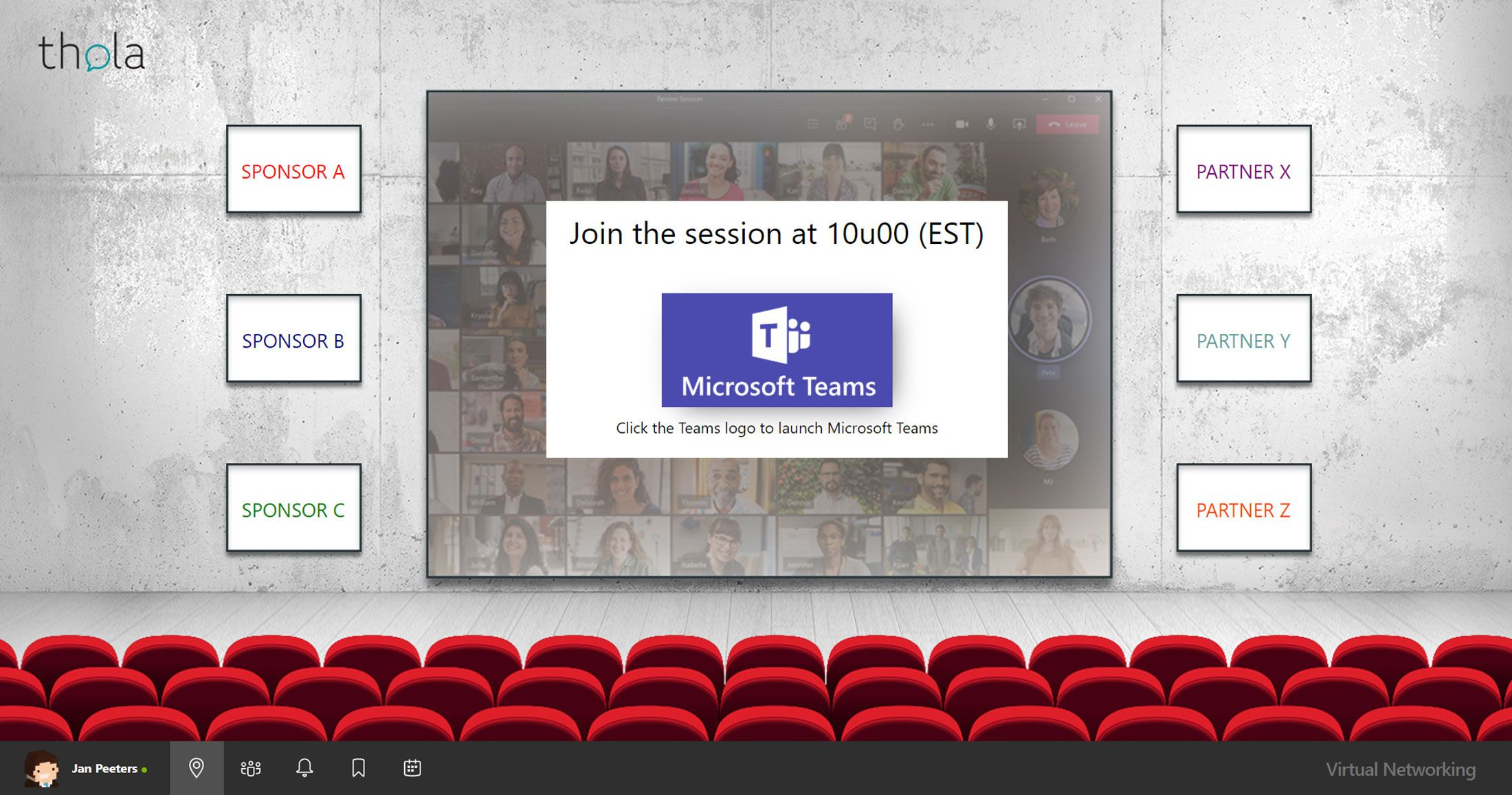 Live presentations during your next virtual event? Discover the Thola Virtual Auditorium here.