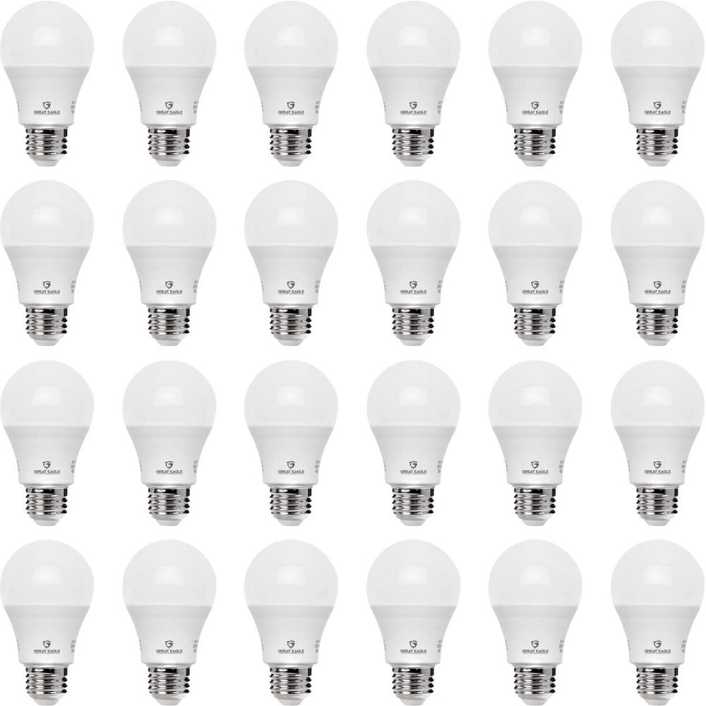Great Eagle A19 LED Light Bulb, 9W (60W Equivalent), UL Listed, 4000K (Cool White), 750 Lumens, Non-dimmable, Standard R