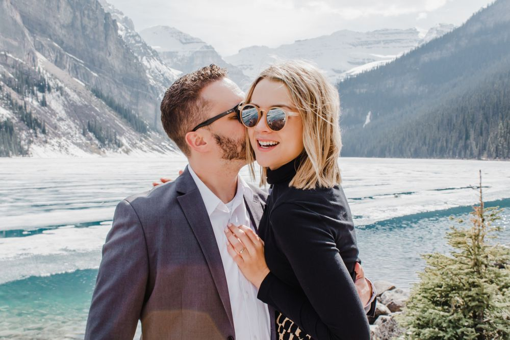 proposal photography Banff casper Jackson Hole Wyoming destination ring couple