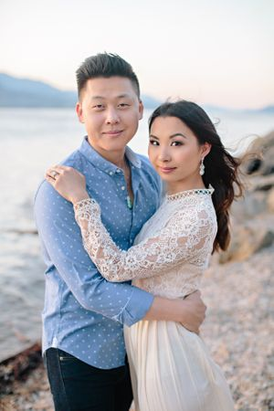 couple portrait during engagement shoot