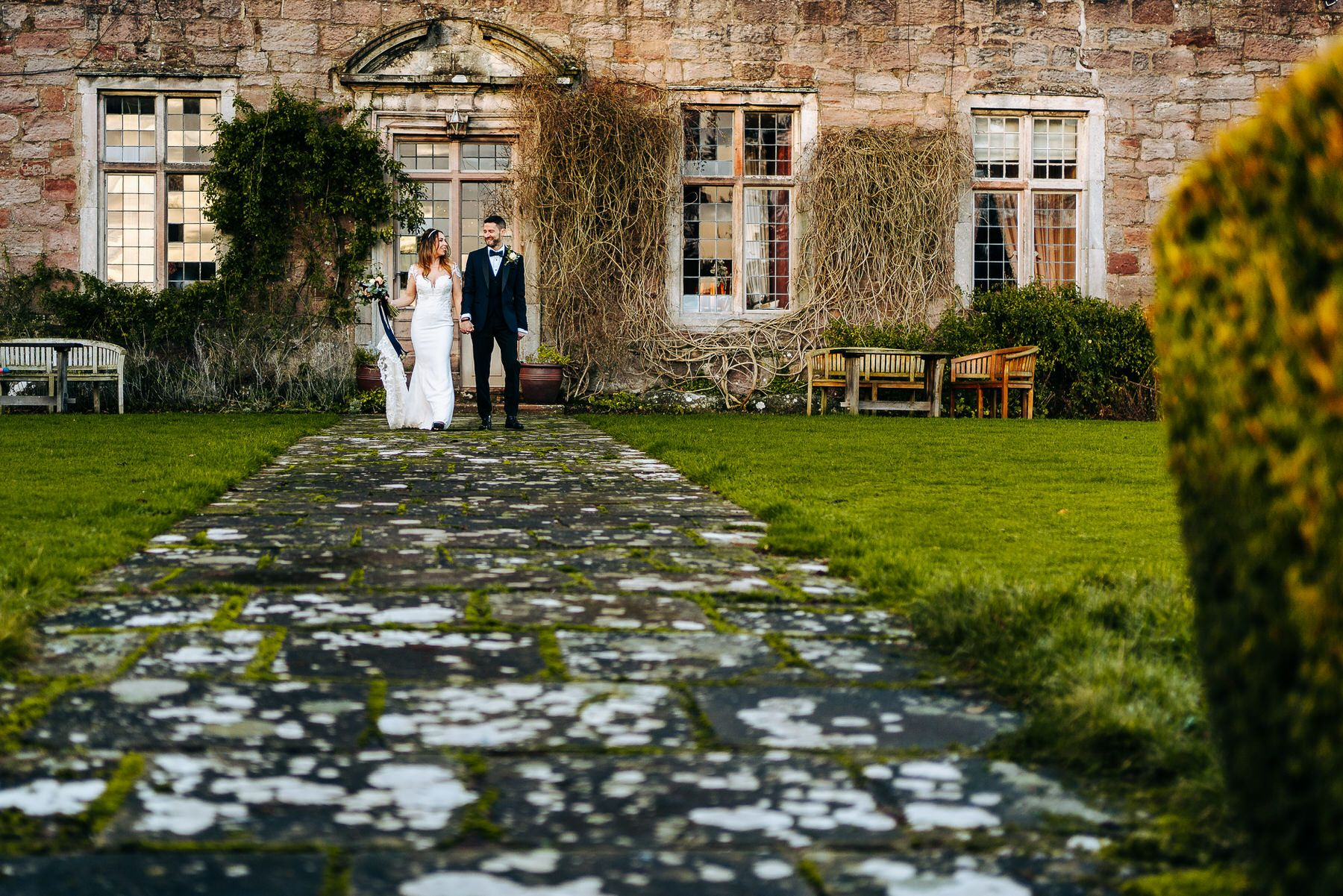 Askham Hall Wedding Portrait