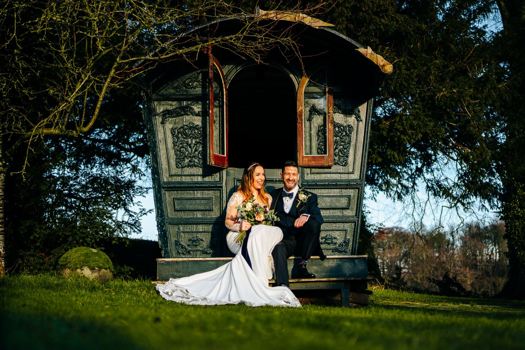 Askham Hall Hutch Wedding Portrait