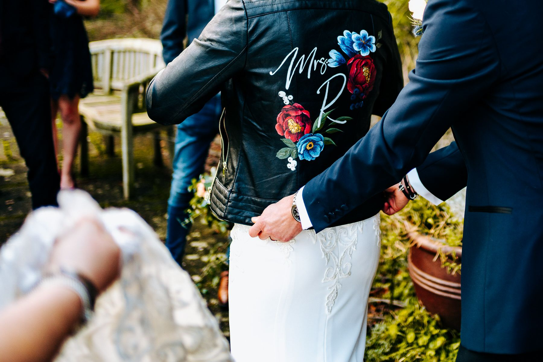 Leather wedding jacket