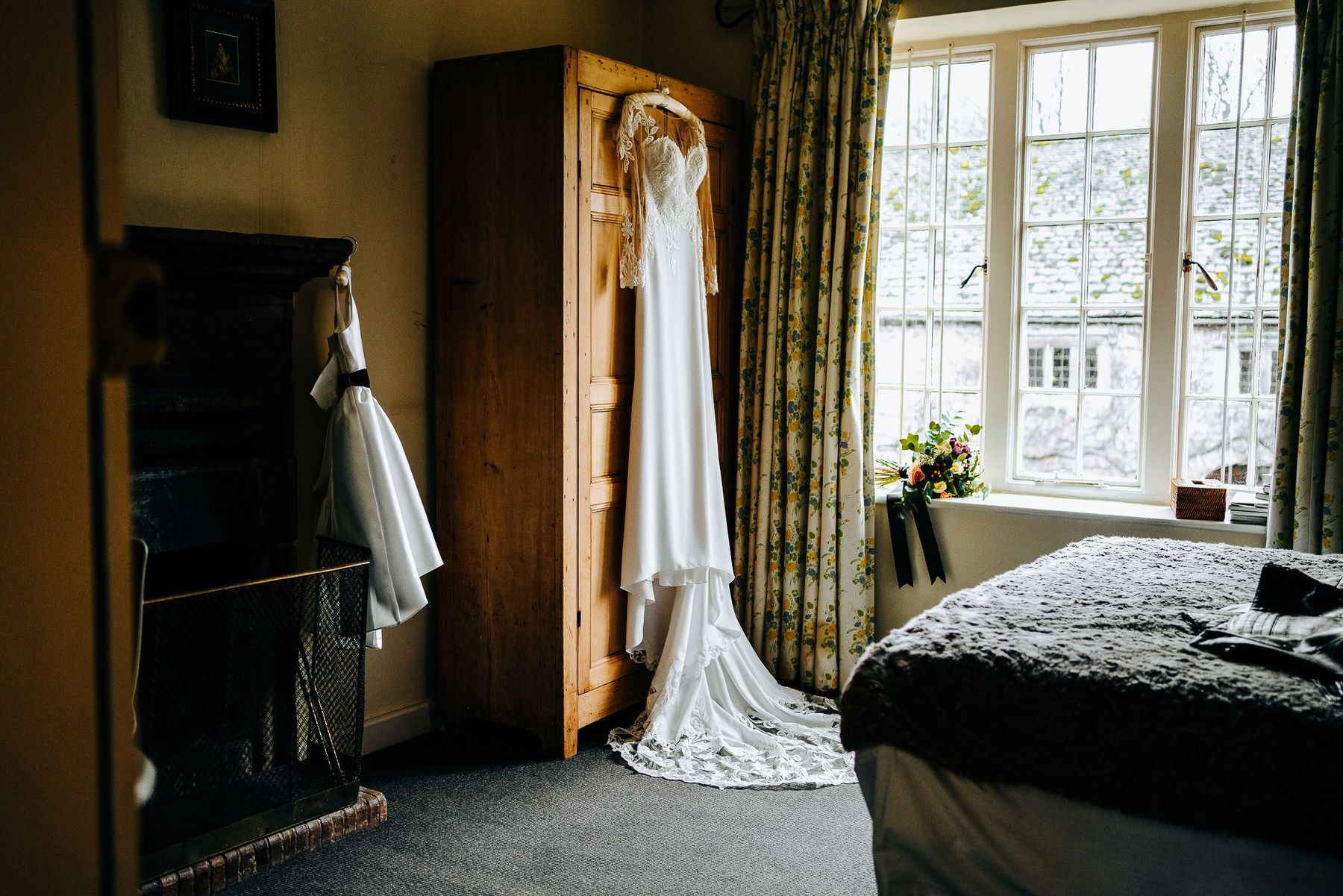 Wedding Dress at Askham Hall