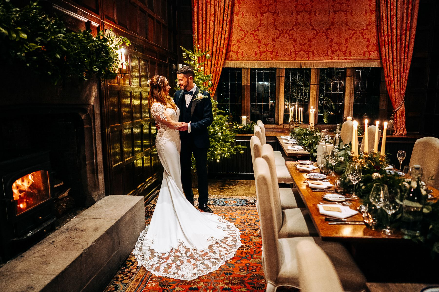 Askham Hall Christmas Wedding