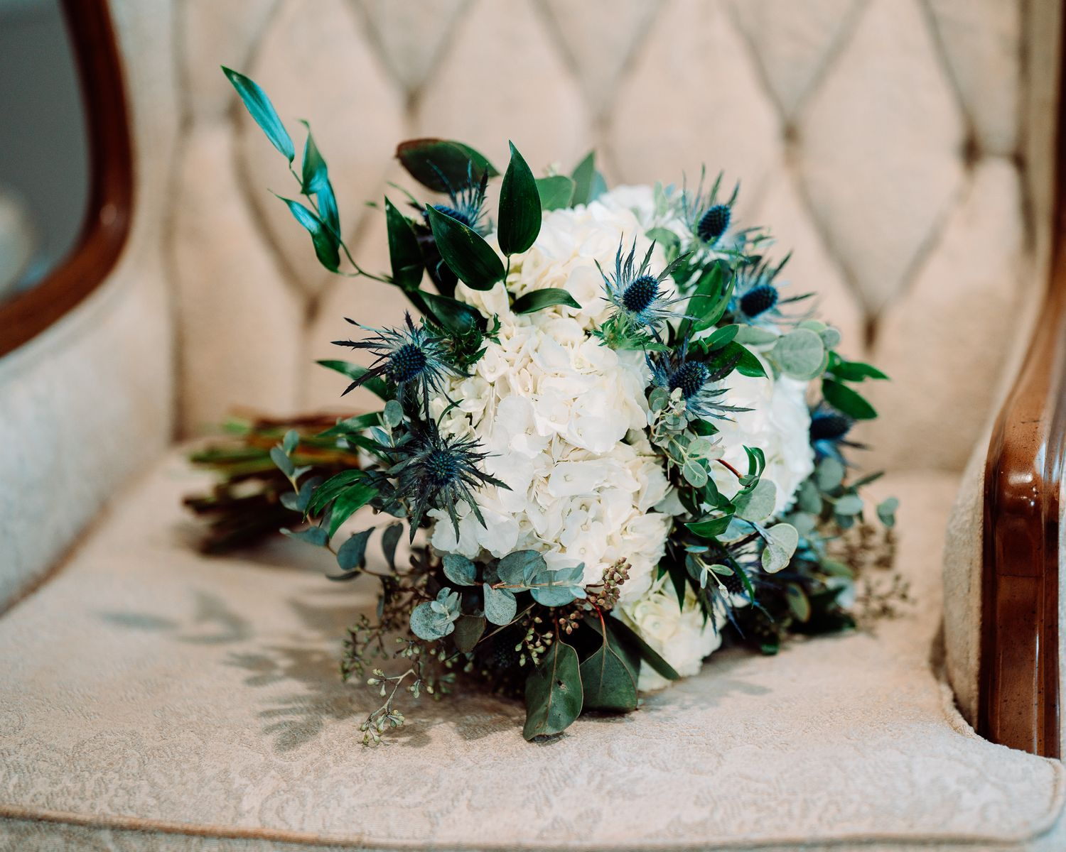 Bride bouquet at The Blessed Barn in Aynor, SC, by PHV Photo