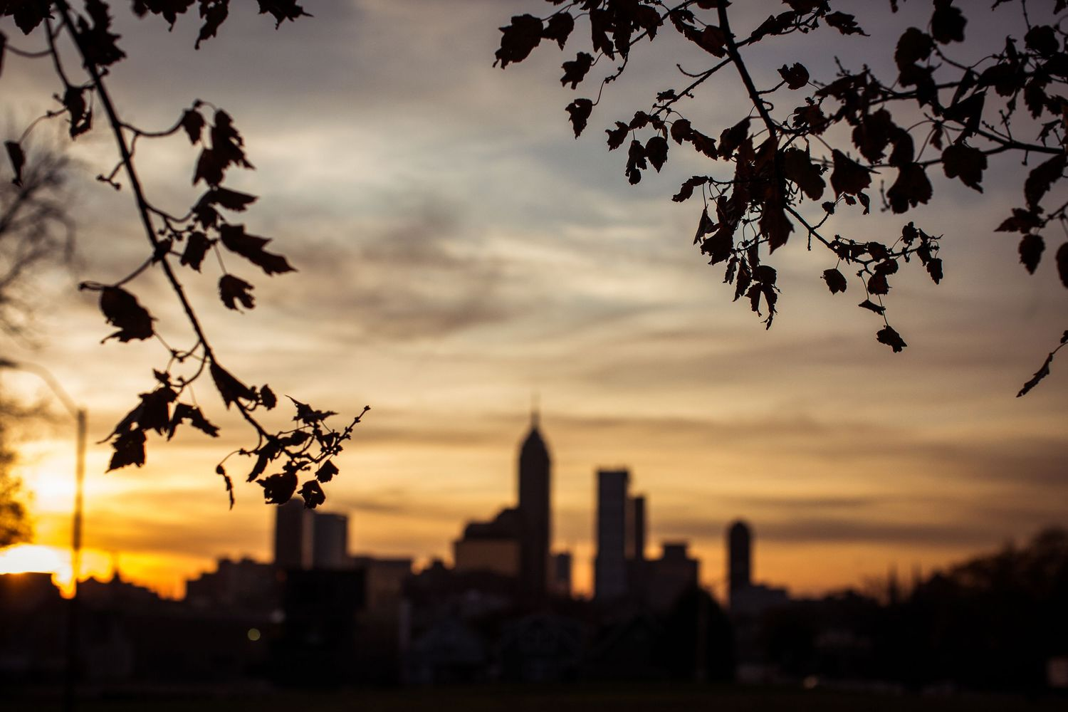 Indianapolis skyline at sunset, Indianapolis Photographer, Indianapolis Senior Photographer