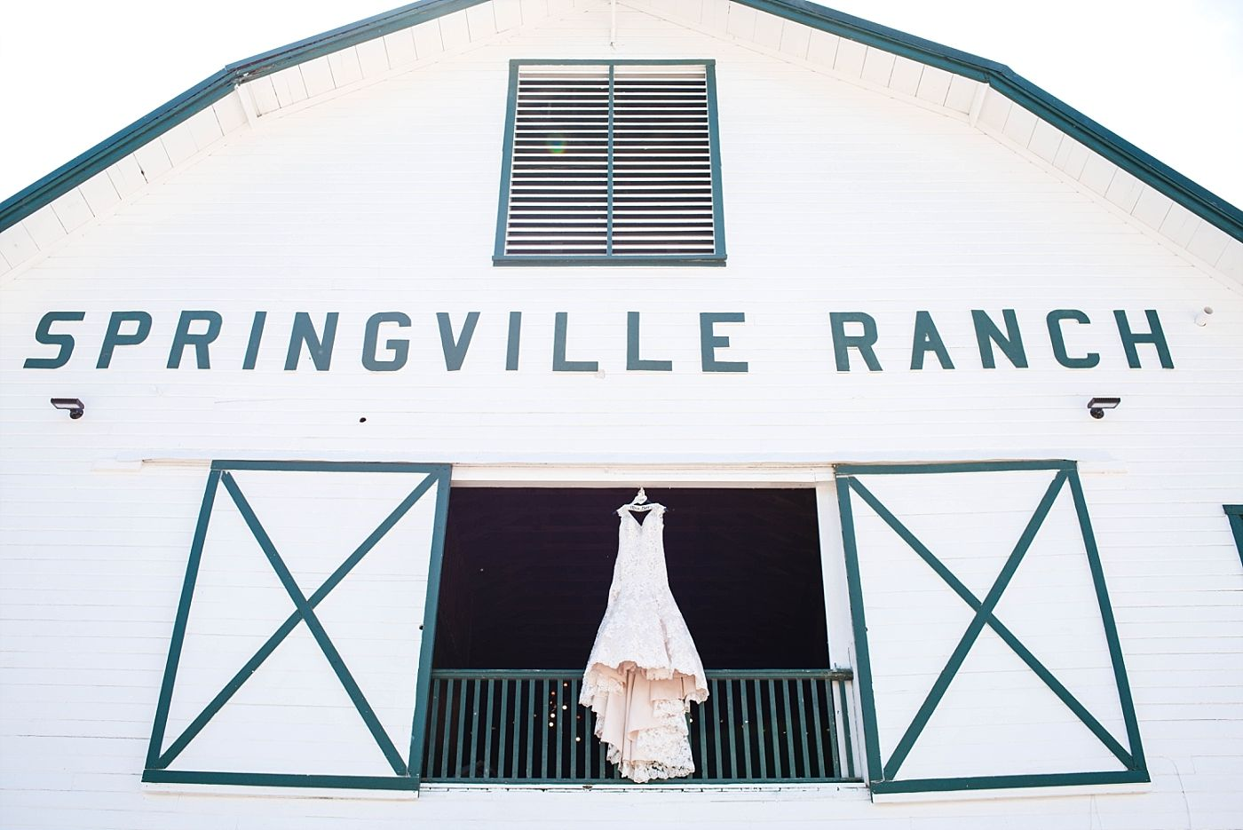 Springville Central Valley california barn wedding dress