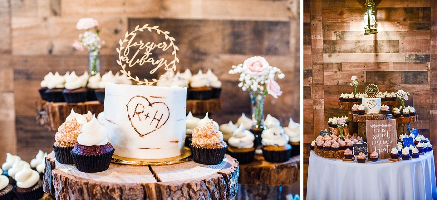 Springville Central Valley california barn wedding reception cake