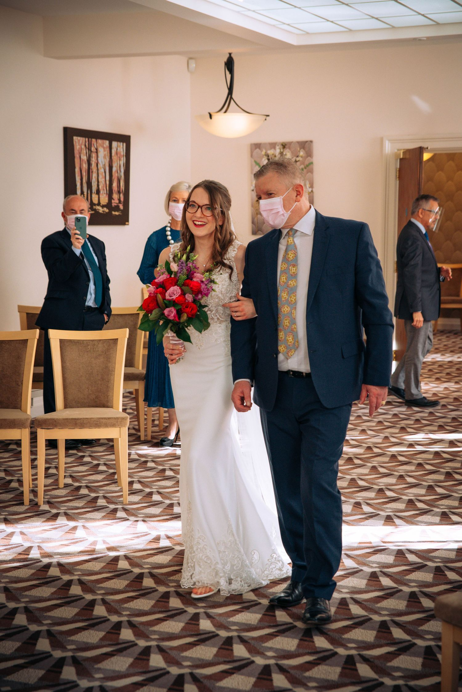 Swindon Registry office wedding by Zara Davis Photography, Gloucestershire bride father of bride