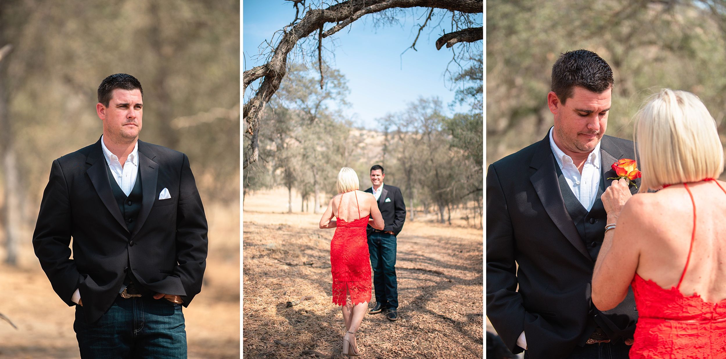 outdoor wedding in three rivers california riata ranch groom and mother