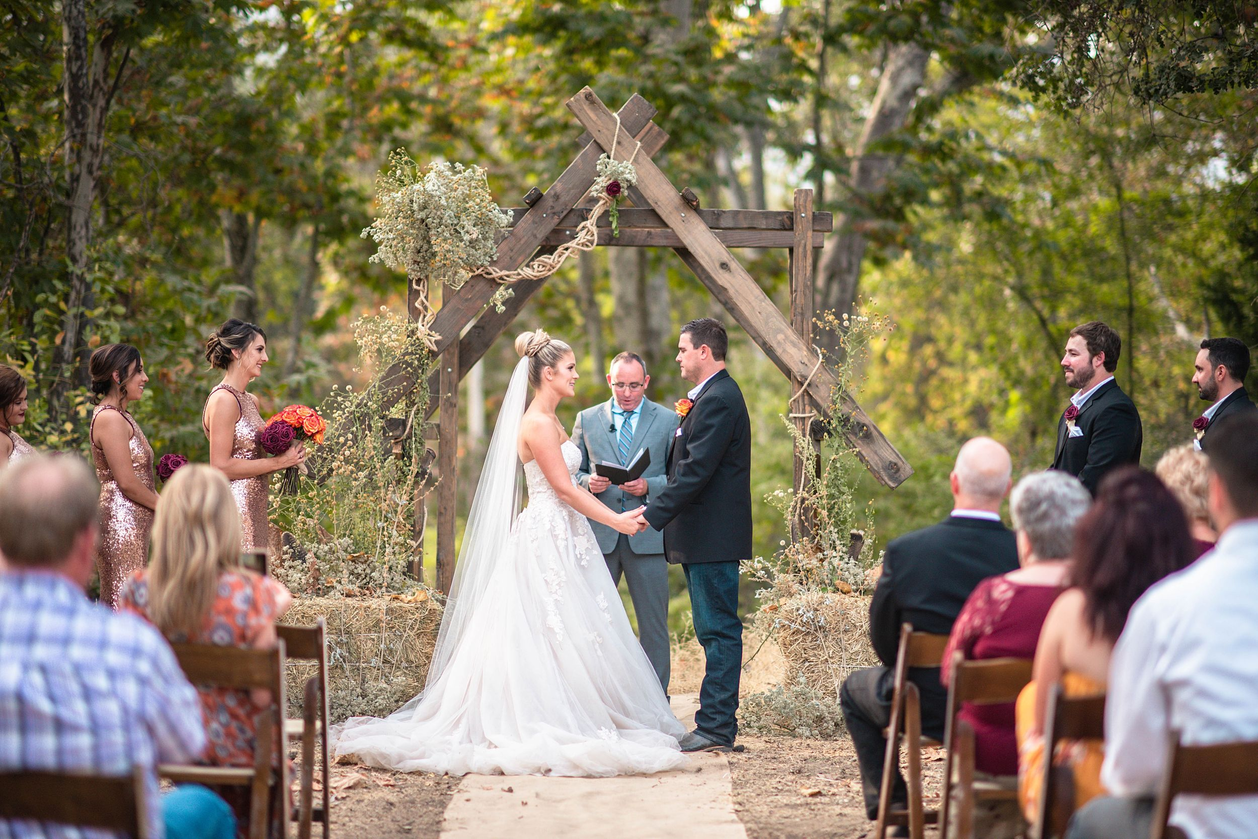 outdoor wedding in three rivers california riata ranch ceremony