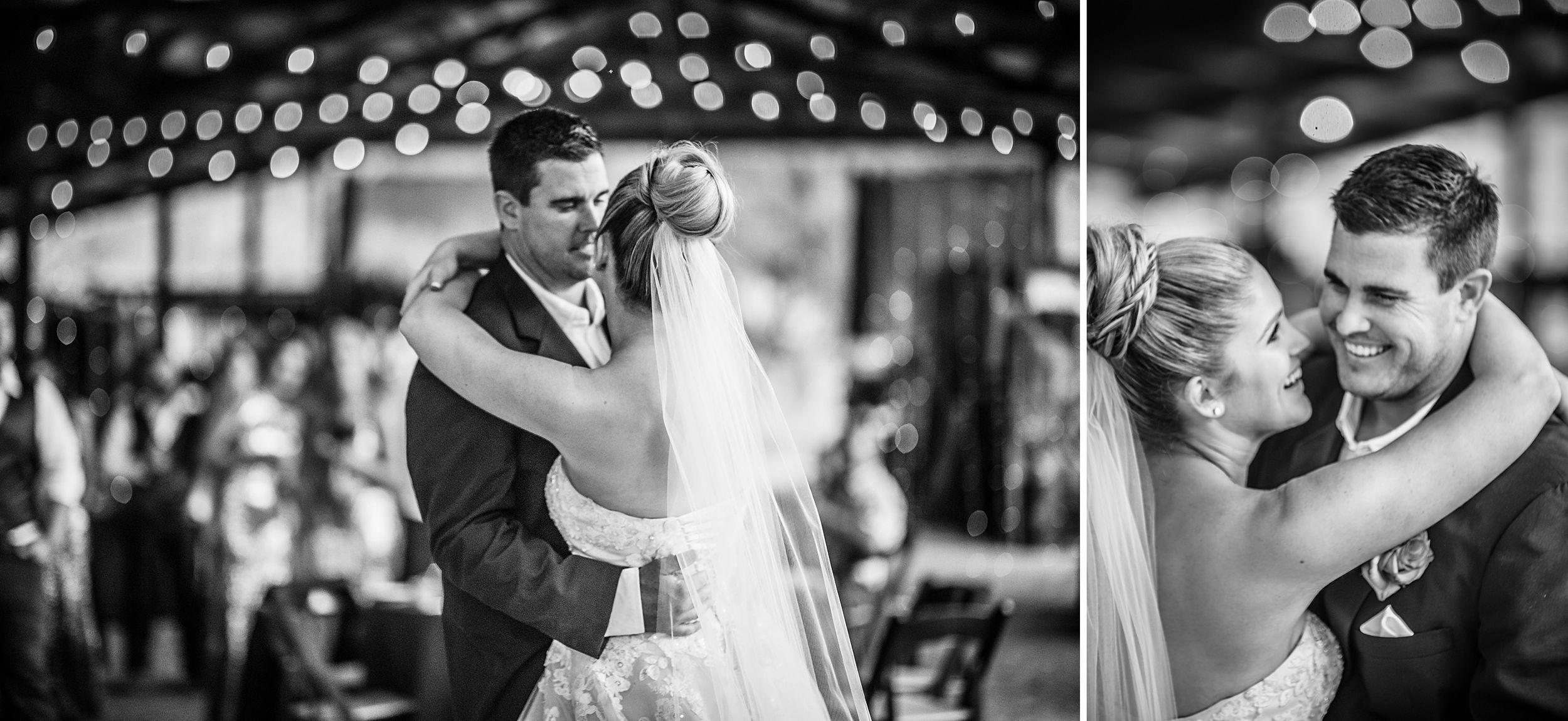outdoor wedding in three rivers california riata ranch reception first dance bride and groom
