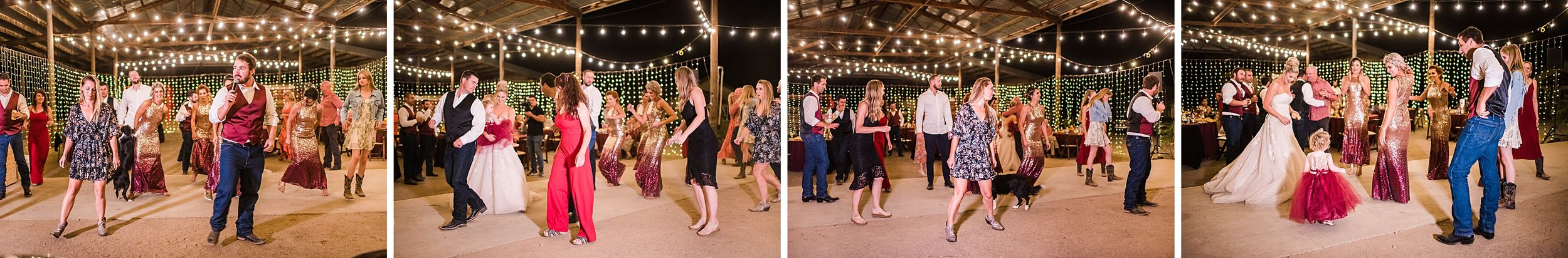 outdoor wedding in three rivers california riata ranch reception dancing