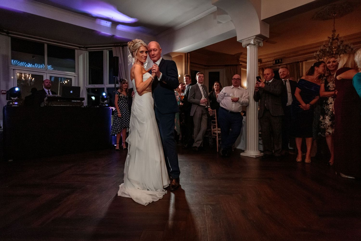 bride and grooms first dance as husband and wife at ashfield house