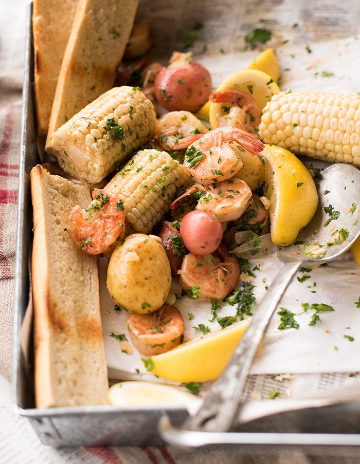 Shrimp Boil Food Photography by Charity Beth Long