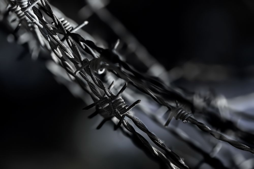 Barbed Wire Stock Image © COPYRIGHT. 2020. Dragon Papillon Photography. All Rights Reserved.