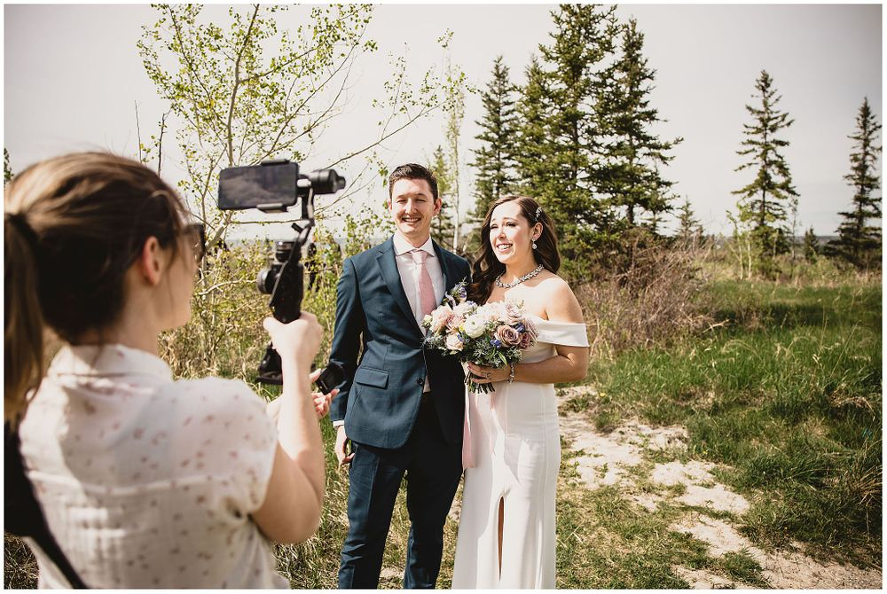 I still do calgary covid bride wedding photographer livestream