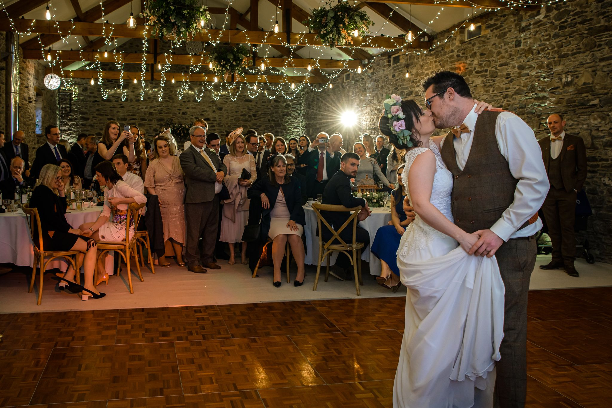 First dance at New House Farm barn wedding venue