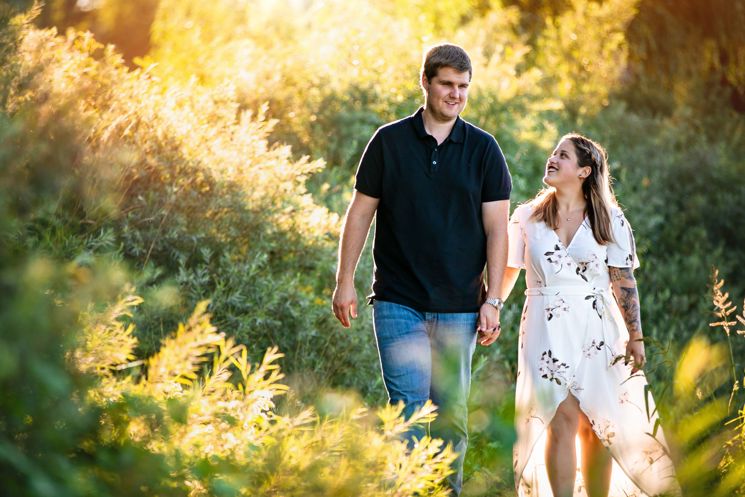 Cute and quirky engagement photos at Fanshawe Conservation Area London Ontario by wedding photographer Shawn Van Daele
