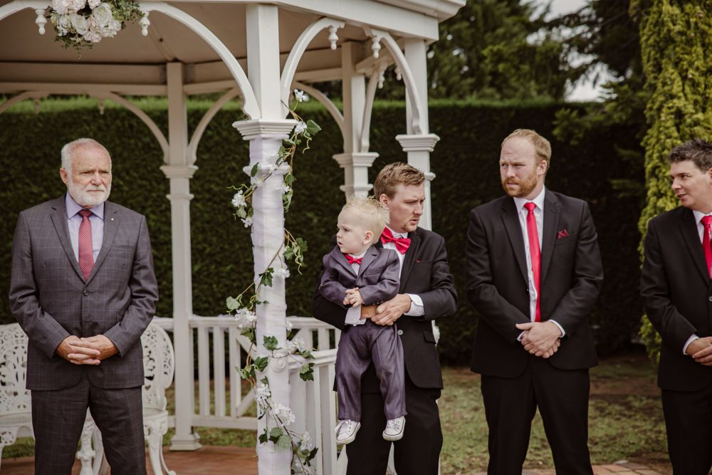 grooms party melbourne wedding photographer outdoor summer wedding grey suits