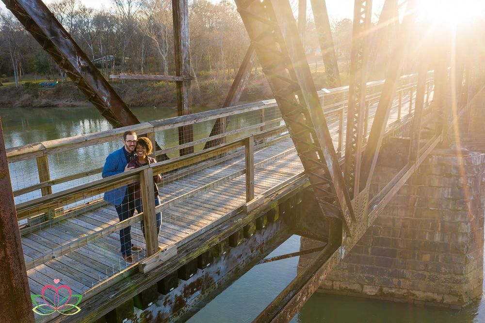 An engagement portrait at the Palmetto Trail in Peak, SC