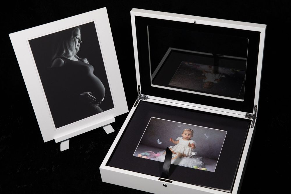 matted fine art prints and display box