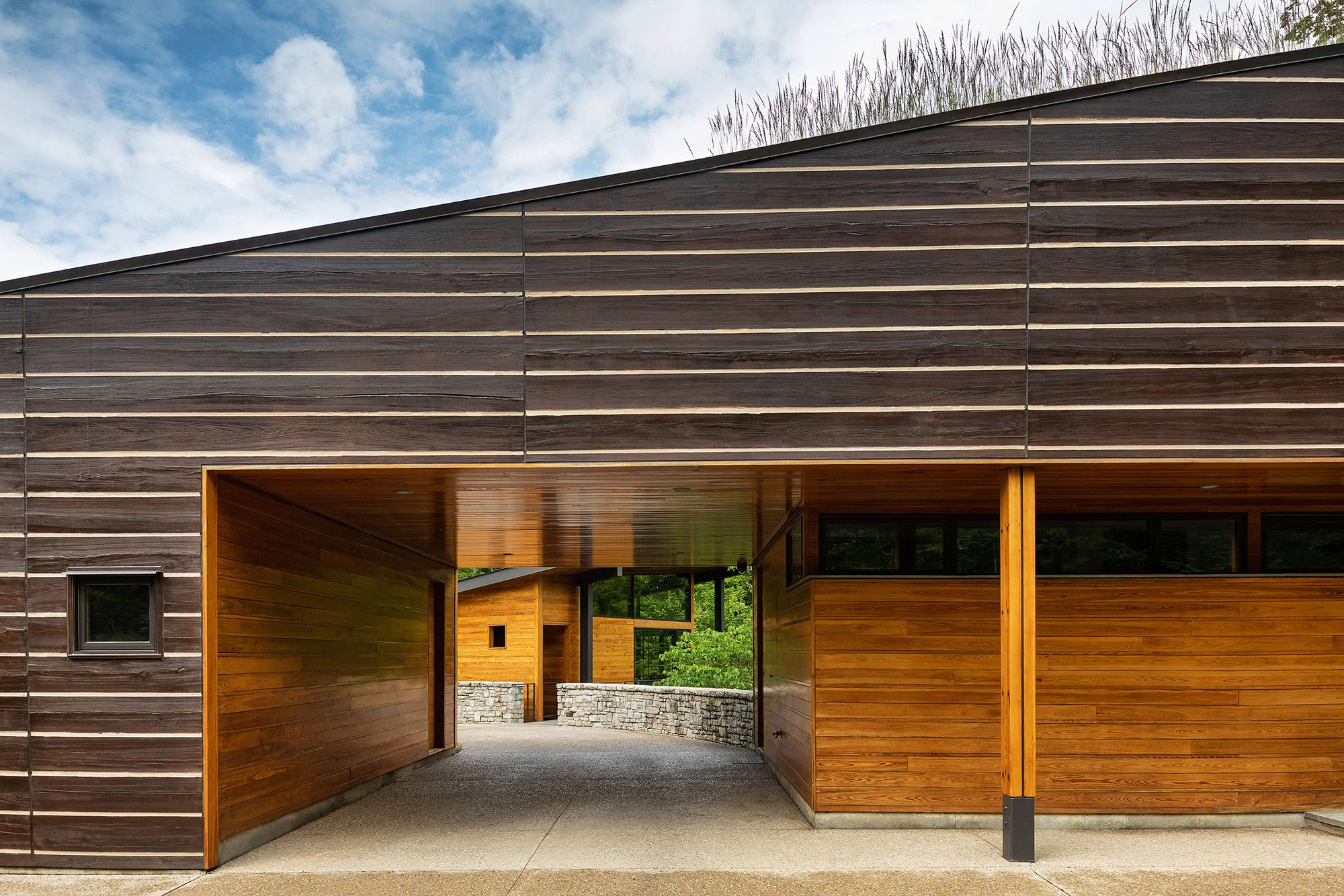 Photo of home with grass roof by Residential Architecture photographer in Cincinnati