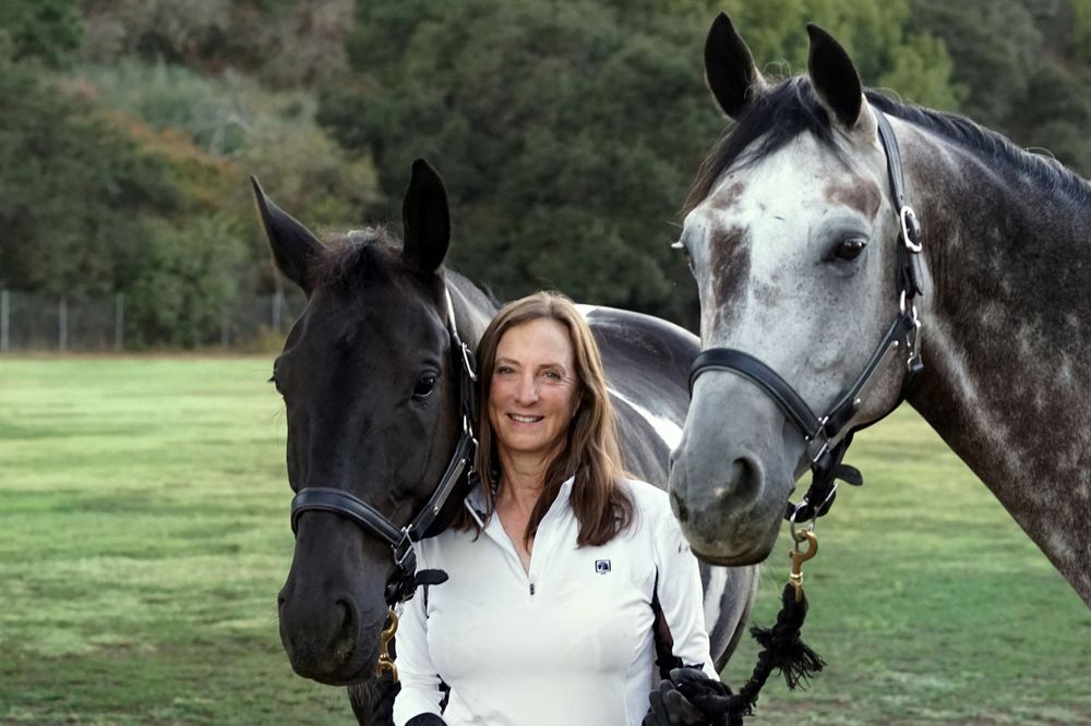 Posed equestrian photo at Webb Ranch