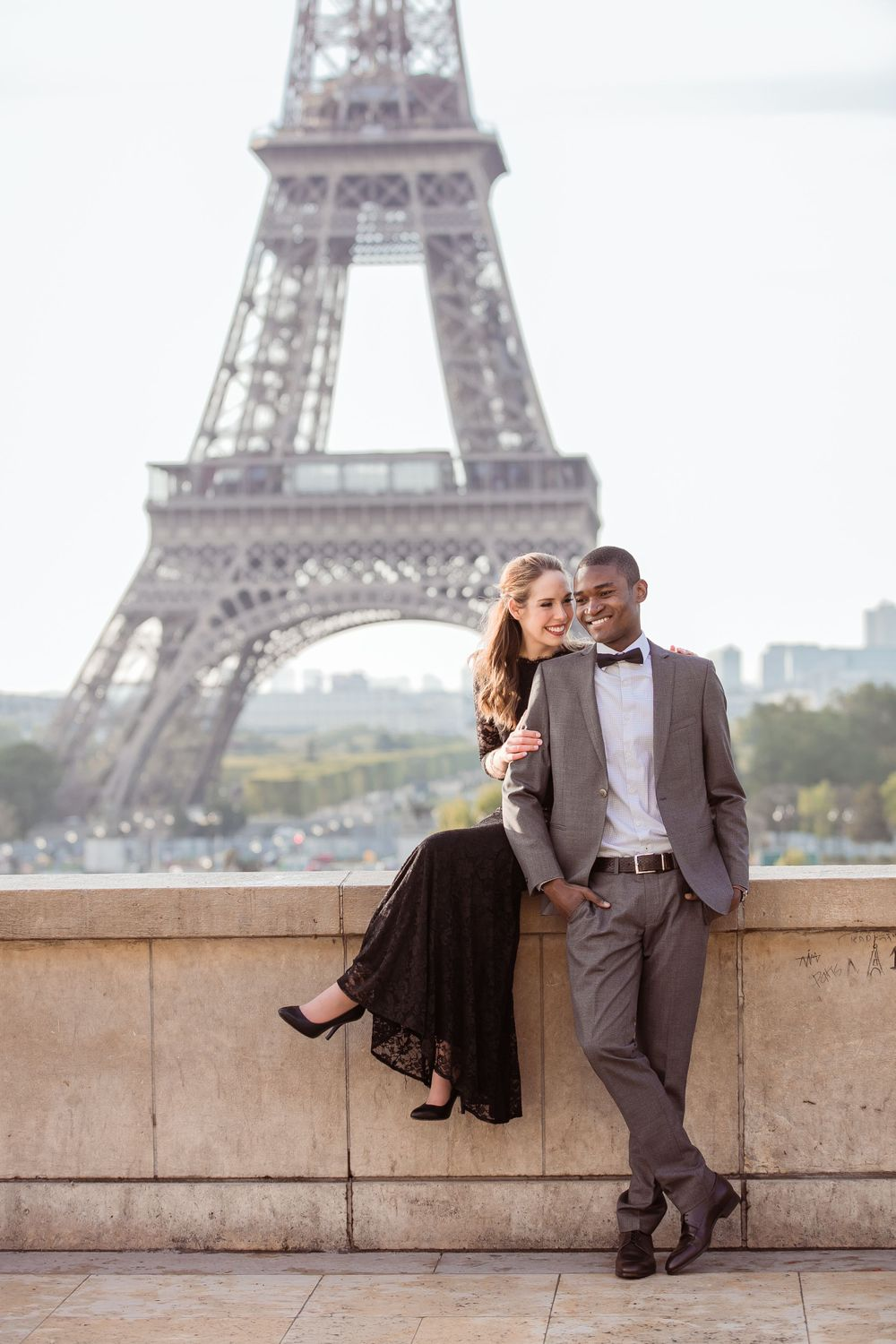 Portrait Session in front of the Eiffel Tower