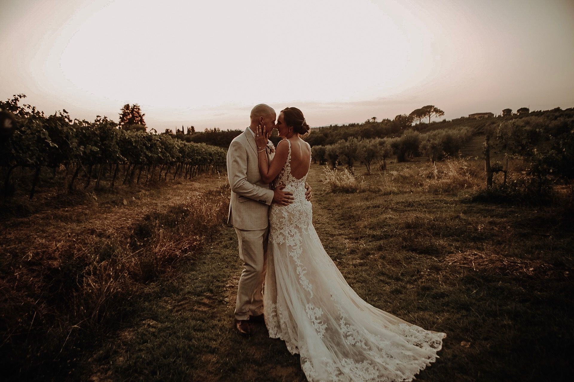 Bride and Groom photograph Italian destination wedding in Tuscany