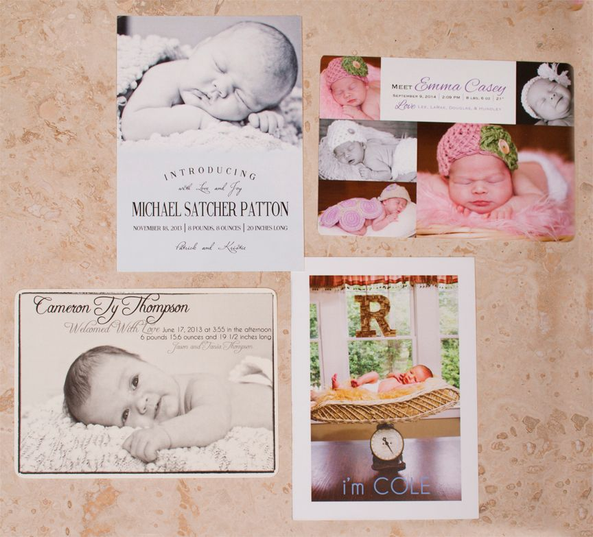 Unique Birth Announcements
