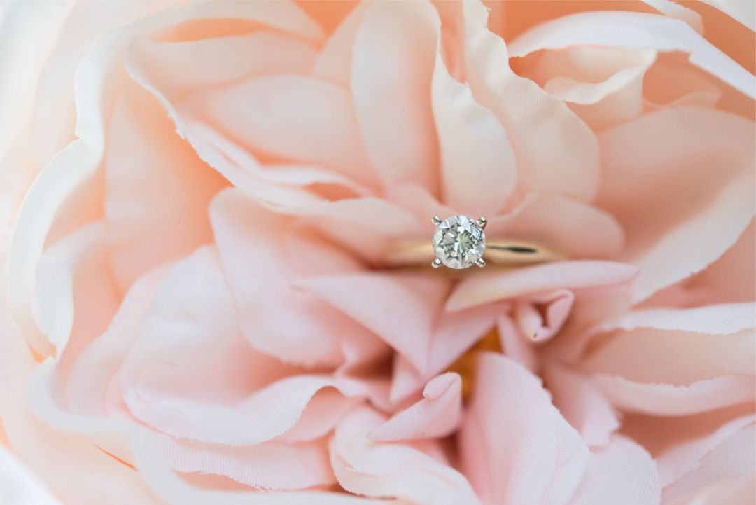 Diamond Engagement Ring by Luxury Detroit MI Wedding Photographer / The Colony Club / Gem Theater / War Memorial / DIA