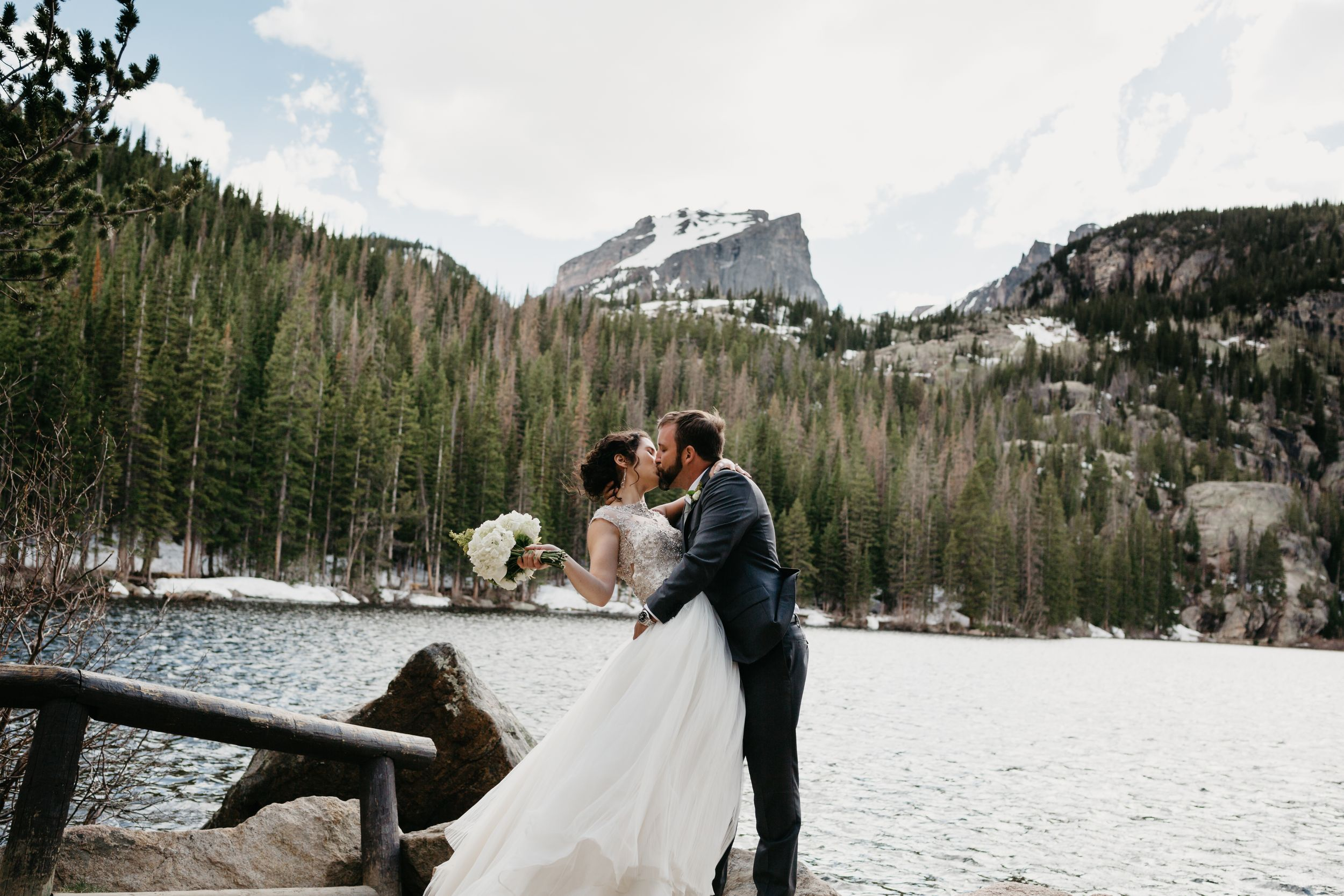 couple portraits, forest, rmnp, ymca, ceremony, photography, colorado, estes park, forest wedding, classy, timeless
