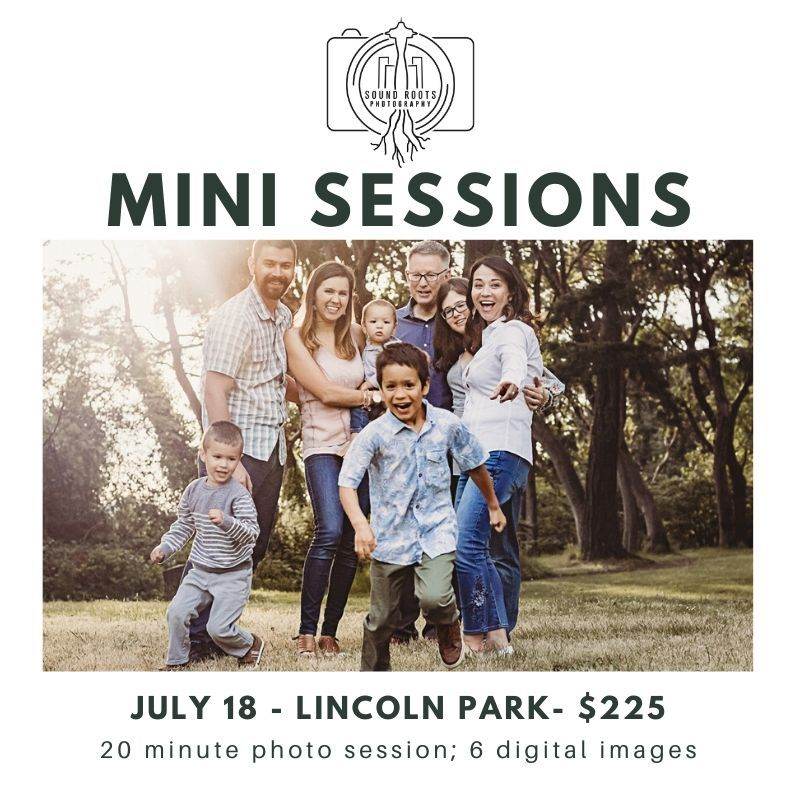 Mini Sessions West Seattle Lincoln Park July 2020 Family Photography