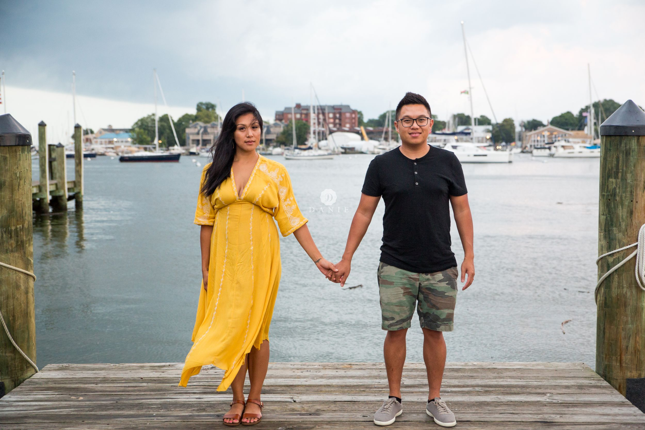 Downtown Annapolis City Dock Couple | Engagement | DANIE Photography