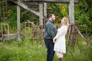 Historic Savage Mill Jersuselem State Park | Maryland Engagement Photos | Old Farming Equipment Photos | DANIE