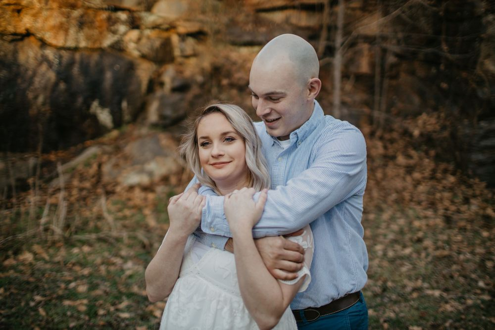 NC engagement photographer Valdese photographer waterfall adventure engagement north carolina elopement adventure photos