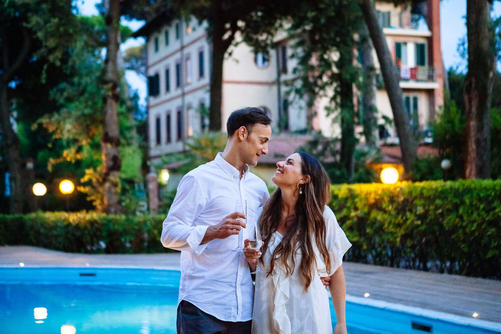 chic but relaxed elopement at Villa Hotel Tiziana in  Marina de Pietrasanta Tuscany