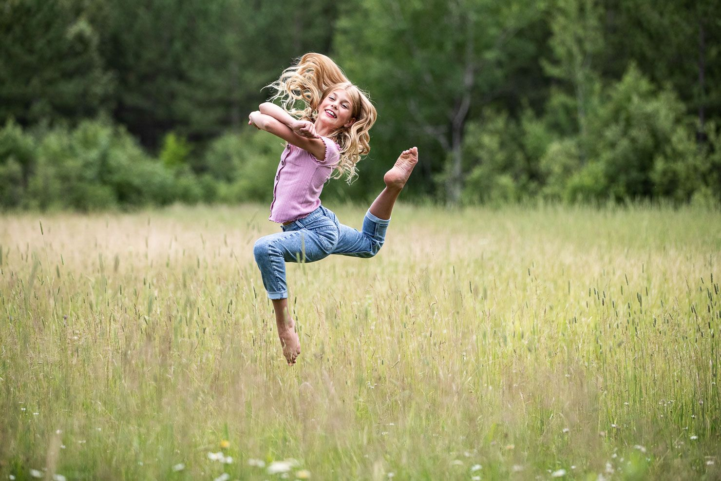 Field Dancing, Dancer Doing Jump, Jump, Dancer, Dance Pose, Dance by aKaiserPhoto, Dance Photographer