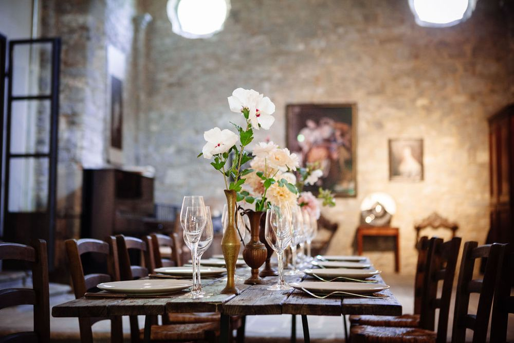 Romanesque wedding flower inspiration