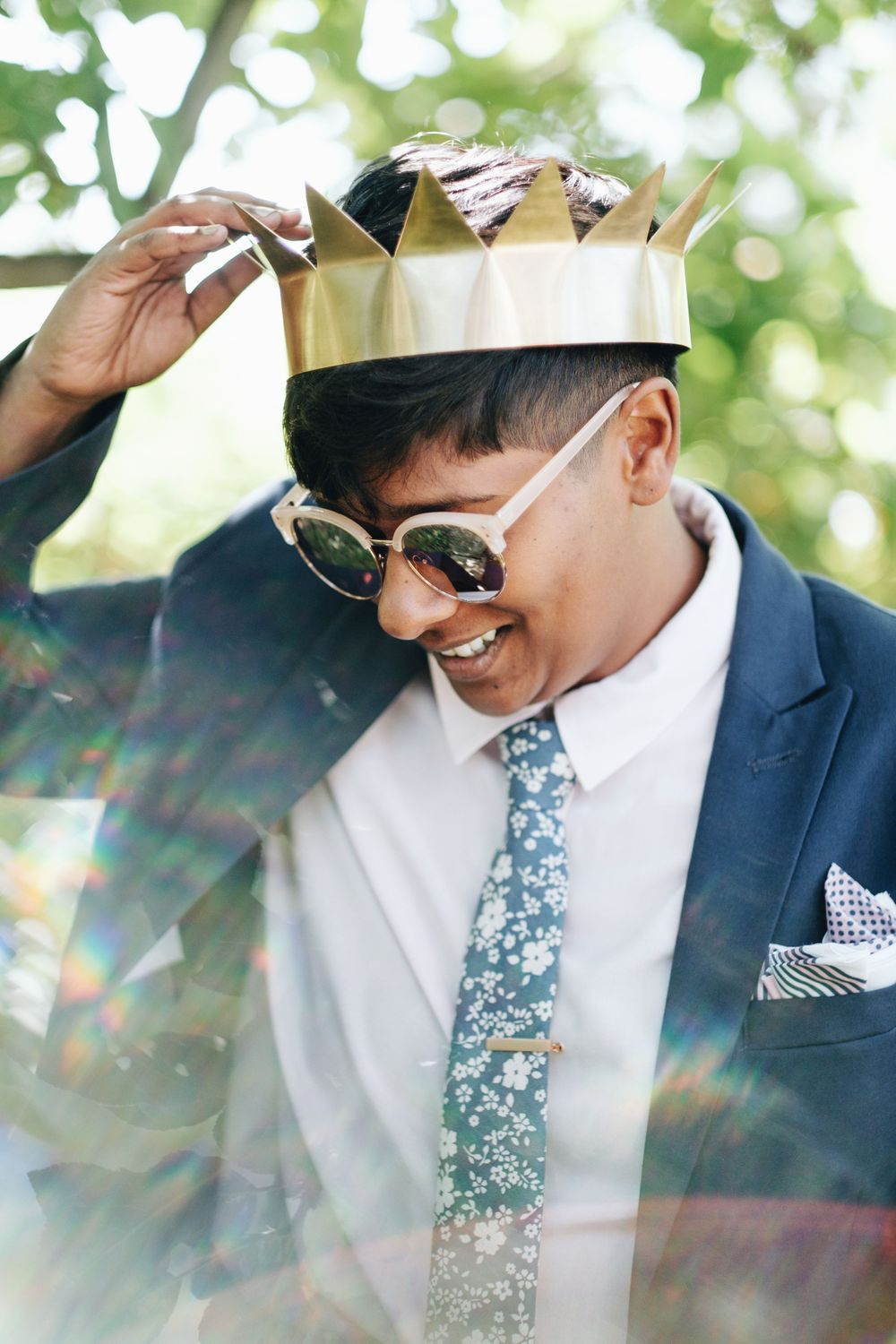 fashion crown queer wedding