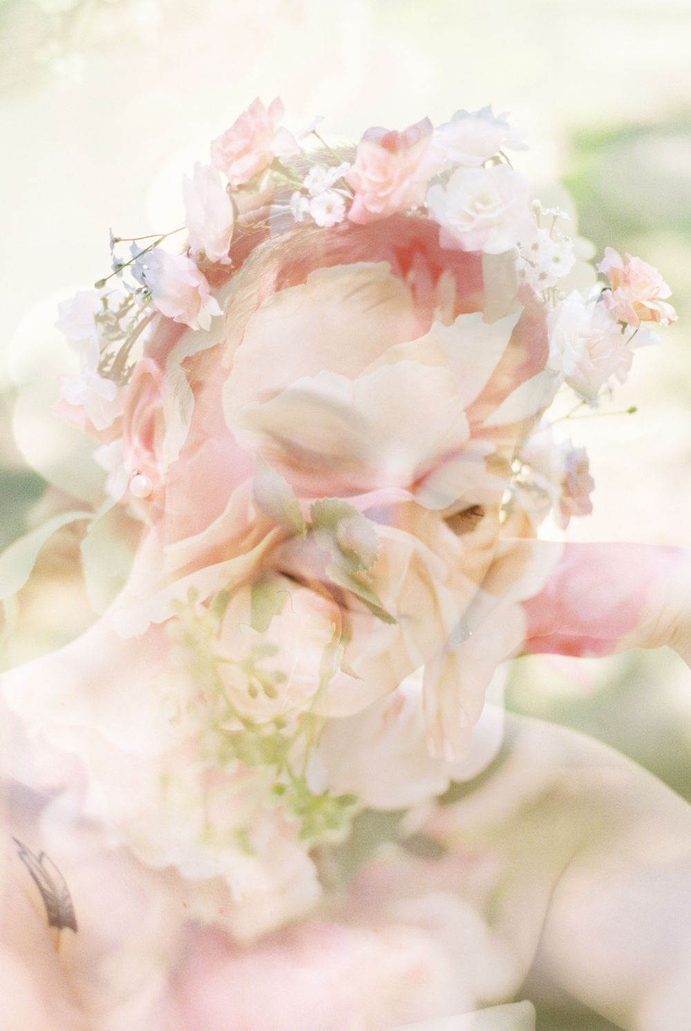 Bride and Flowers double exposure Irmo SC