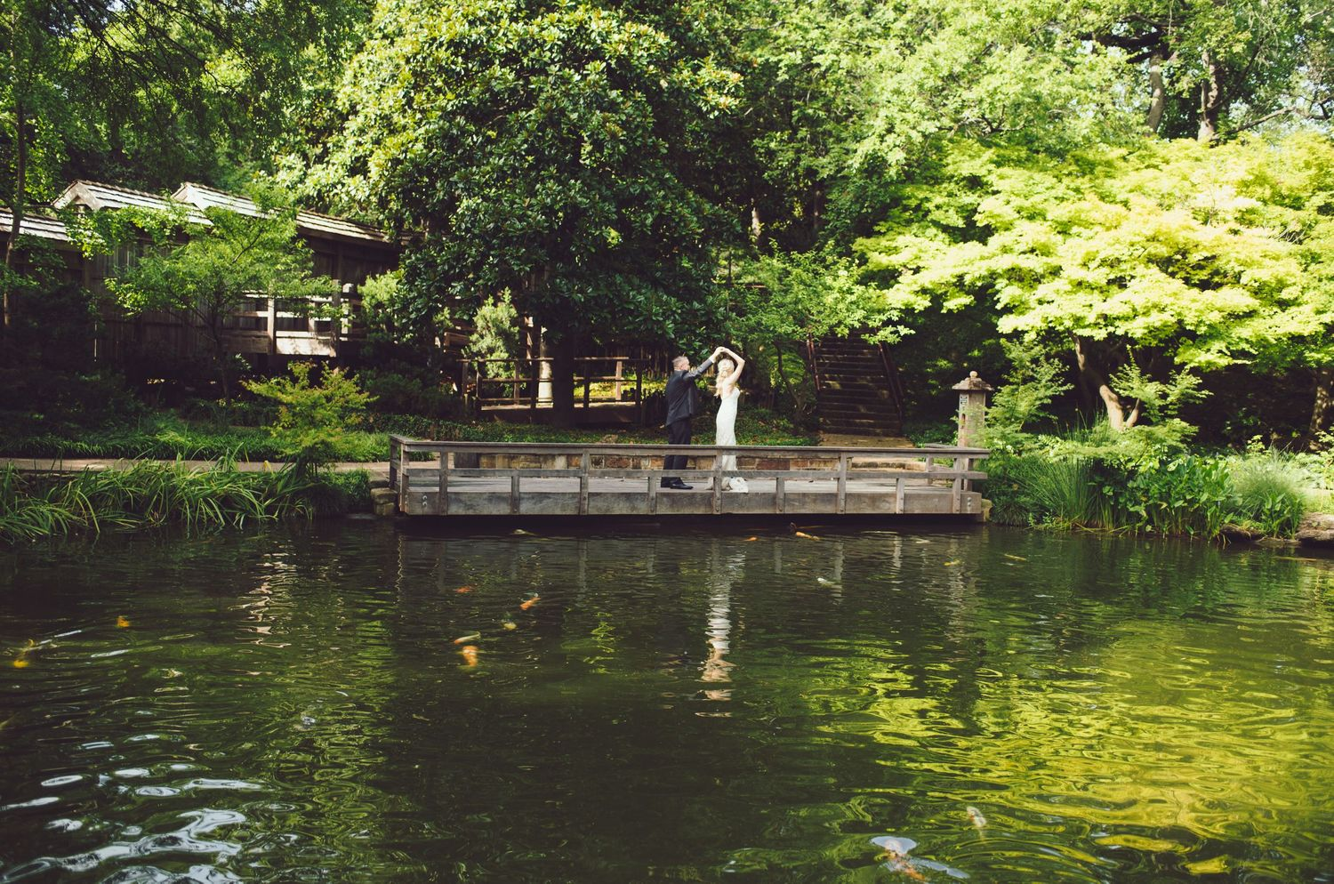 Wedding at Japanese garden fort worth