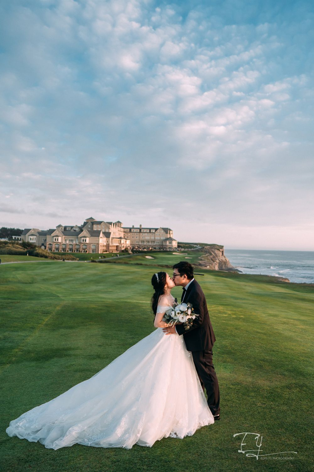 elvis yu photography california engagement wedding day destination wedding ritz carlton half moon bay